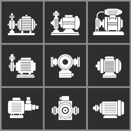 Water pump icon, motor vector illustration, compressor symbol Illustration