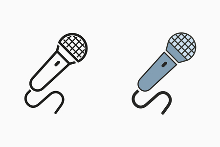 Voice record icon, mic symbol, sound music illustration 向量圖像