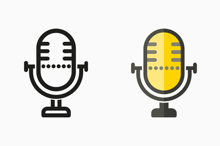 Voice record icon, vector sound music, microphone symbol