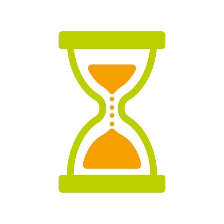 Sand watch icon, vector hourglass illustration design.