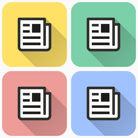Vector news icon, newspaper symbol. Illustration isolated for graphic and web design. 向量圖像
