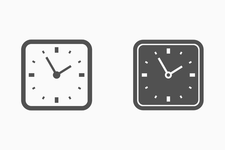 Vector time clock icon. Vettoriali
