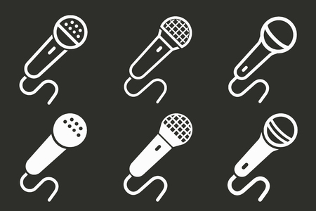 Audio record icon, mic symbol, sound music illustration. 向量圖像