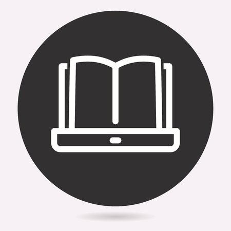 Vector e-learning education icon. Academic study, Illustration isolated. Simple pictogram for graphic and web design. Illustration