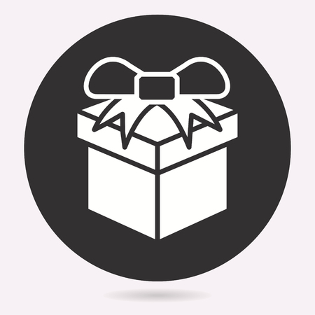 vector gift box surprise icon birthday present symbol ロイヤリティ