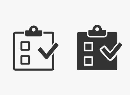 Checkliste Vektorsymbol. Illustration isoliert für Grafik- und Webdesign. Vektorgrafik