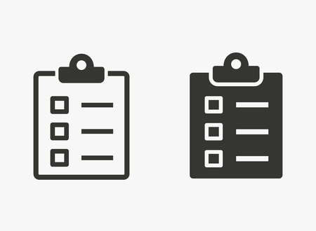 Evaluate vector icon. Illustration isolated for graphic and web design.