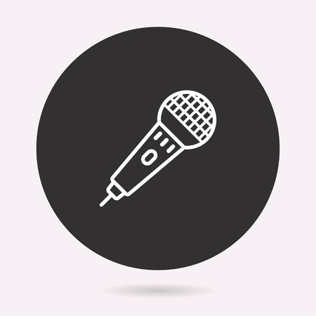 Voice record icon, sound music, vector mic illustration.