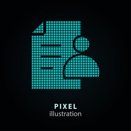 Assistance - icône de pixel. Illustration vectorielle. Élément de conception. Isolé sur fond noir. Il est facile de changer de couleur. Vecteurs