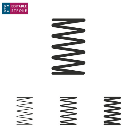Frühling - Umriss-Symbol auf weißem Hintergrund. Bearbeitbarer Strich. Vektor-Illustration. Vektorgrafik