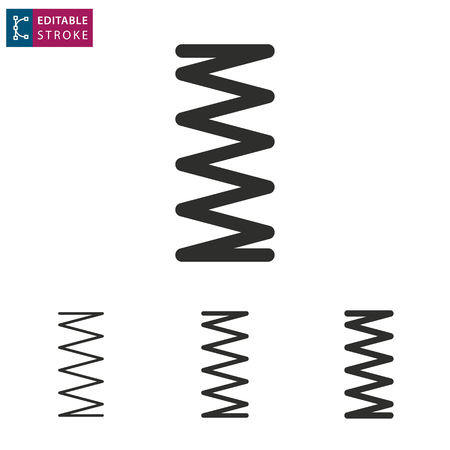 Metalen veer pictogram op witte achtergrond. Bewerkbare streek. Vector illustratie.