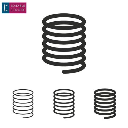 Metalen veer pictogram op witte achtergrond. Bewerkbare streek. Vector illustratie. Vector Illustratie