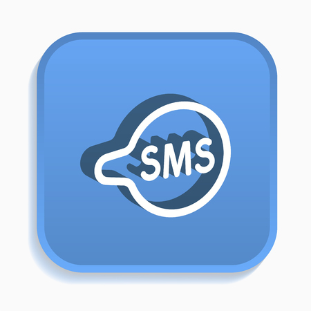 SMS isometric icon. Vector illustrations isolated for graphic and web design in 3d style.