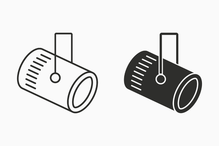 Spotlight vector icon. Black illustration isolated on white. Simple pictogram for graphic and web design. 일러스트