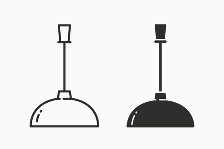 Lighting vector icon. Black illustration isolated on white. Simple pictogram for graphic and web design.