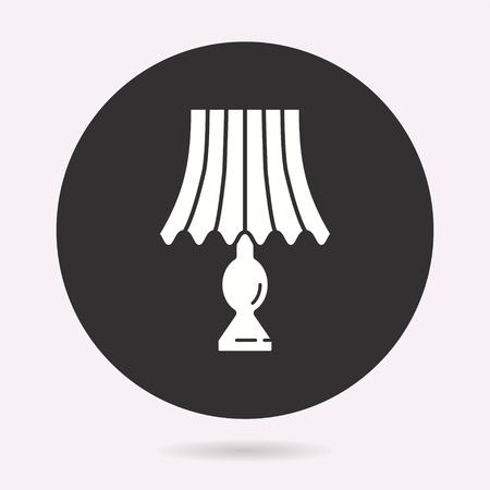 Lighting icon. Vector illustration isolated. Simple pictogram for graphic and web design. Illustration