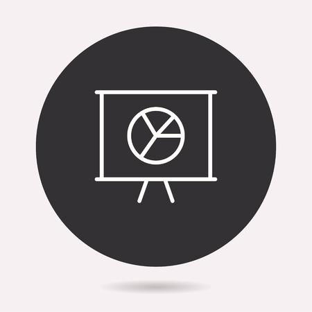 Presentation icon. Vector illustration isolated. Simple pictogram for graphic and web design. Archivio Fotografico - 125075399