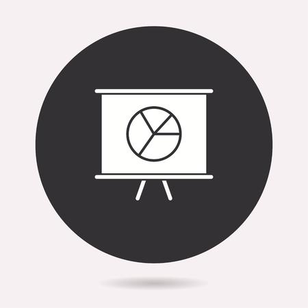Presentation icon. Vector illustration isolated. Simple pictogram for graphic and web design. Archivio Fotografico - 125075400