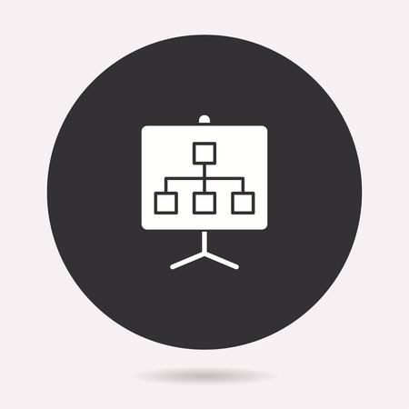 Presentation icon. Vector illustration isolated. Simple pictogram for graphic and web design.