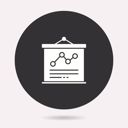 Presentation icon. Vector illustration isolated. Simple pictogram for graphic and web design. Archivio Fotografico - 124907174