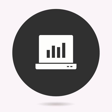 Data analysis icon. Vector illustration isolated. Simple pictogram for graphic and web design. Ilustrace