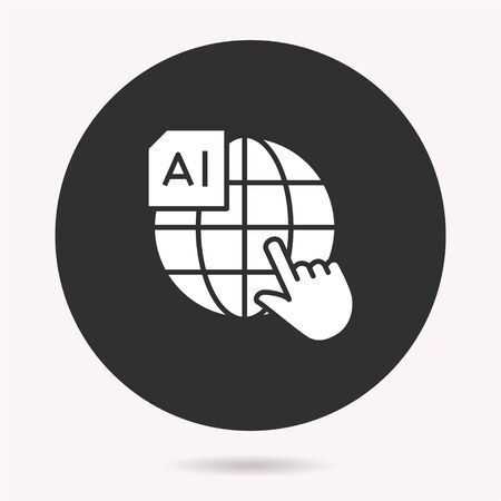 Artificial intelligence icon. Vector illustration isolated. Simple pictogram for graphic and web design.