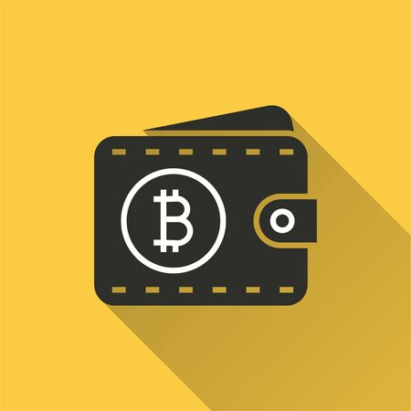 Blockchain icon. Simple illustration with long shadow isolated for graphic and web design. Stock fotó - 133700521