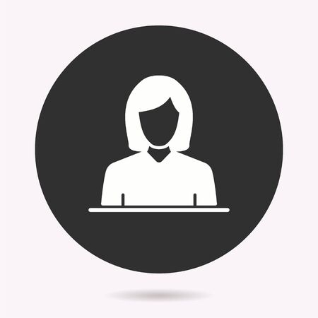 Business woman icon. Vector illustration isolated. Simple pictogram for graphic and web design. Ilustracja