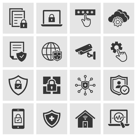 Security icons, such as privacy, protection, defense and more. Change to any size and any color.
