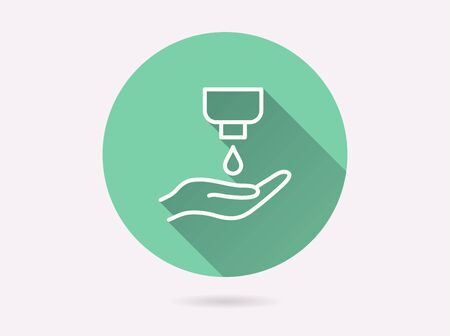 Antiseptic icon. Simple illustration with long shadow isolated for graphic and web design.
