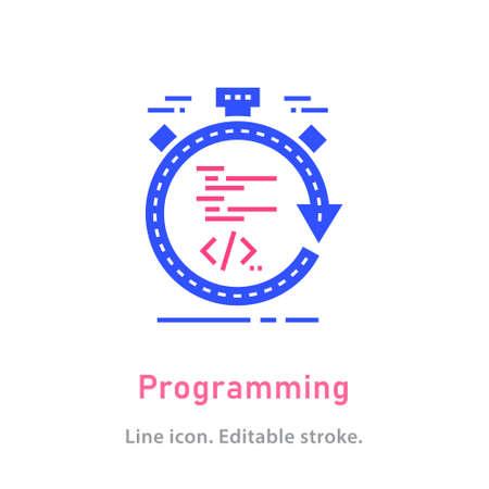 Programming icon on white background. Vector illustration. 向量圖像