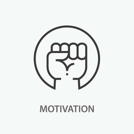 Motivation line icon. Vector illustration on white background. Illusztráció