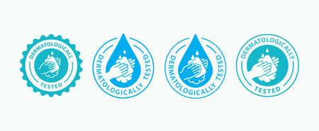 Hand gel sanitizer icon. Vector illustration. Illusztráció