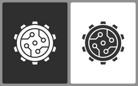 Technology icons. Vector illustration isolated.