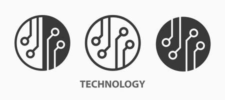 Technology icons. Vector illustration for web sites and mobile application. Ilustrace