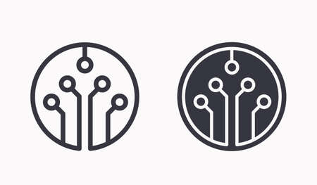 Technology icons. Vector illustration for web sites and mobile application. Logo Template.