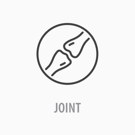 Joint line icon. Vector illustration on white background.