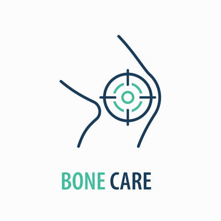 Knee line icon. design template. Vector illustration on white background.