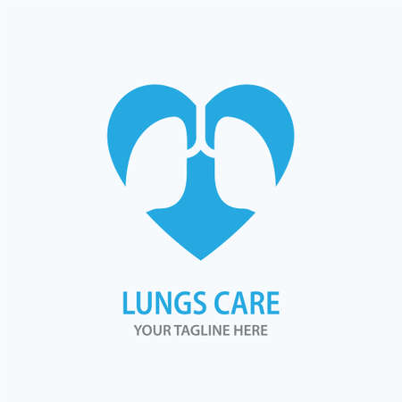 Human lungs icon. Logo design template. Vector illustration.
