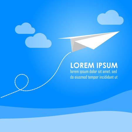 EPS10 vector paper aircraft Çizim