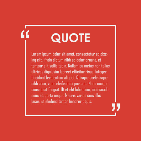Quote text bubble. Commas, note, message and comment. Design element similar to quote. Text, commas, quote and note. Motivation quote vector. Quote element design. Sport quote citation. Quote template Illustration