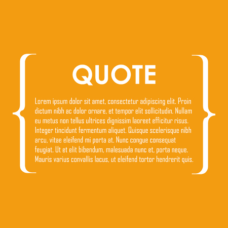 box: Quote text bubble. Commas, note, message and comment. Design element similar to quote. Text, commas, quote and note. Motivation quote vector. Quote element design. Sport quote citation. Quote template Illustration