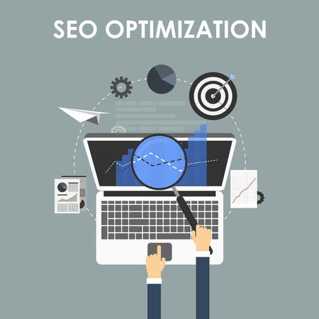 business service: SEO optimization, programming process and web analytics elements