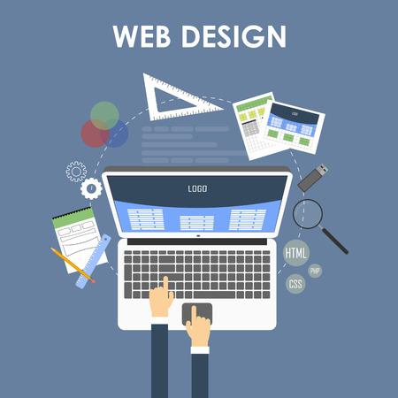 responsive design: Responsive Web Design Concept. Vector Illustration