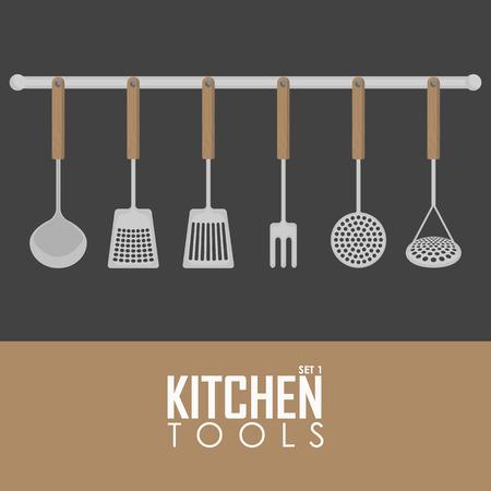 ellements: Kitchen tools vector illustration set of ellements