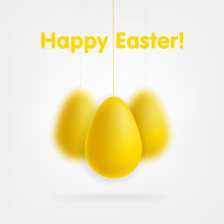 golden eggs: Golden eggs set isolated on white background. Illustration