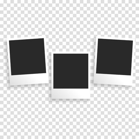 Photo frame op een transparante achtergrond met een realistische papier textuur en schaduw. Kan gebruikt worden om foto albums, promo, reclame, enz. Te ontwerpen Stockfoto - 51688791
