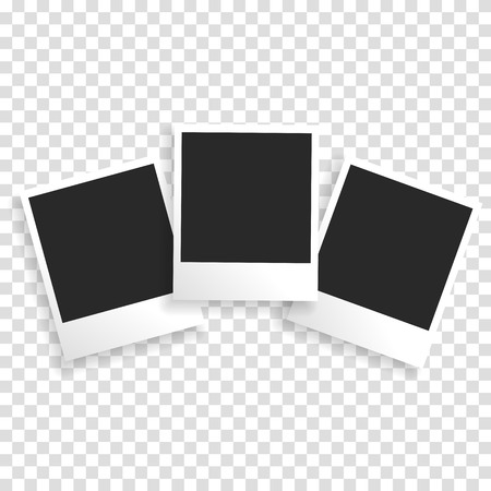 Photo frame on a transparent background with a realistic paper texture and shadow. Can be used to design photo albums, promo, advertising, etc.