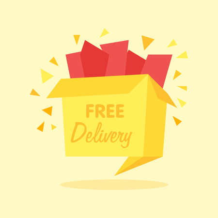 box with free shipping icon - internet shopping icon Illustration