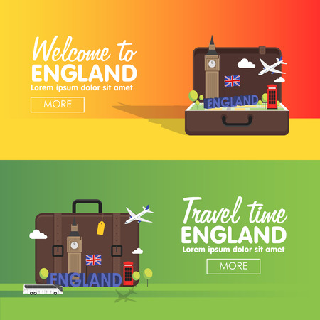 travel destinations: London, England travel destinations icon set, Info graphic elements for traveling to England.